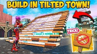 *BROKEN* BUILD INSIDE TILTED TOWN!! - Fortnite Funny Fails and WTF Moments! #642