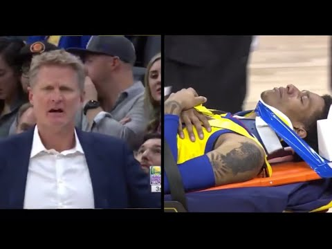 Patrick McCaw Scary Fall Gets Stretchered Out!!!! Steve Kerr calls out Vince Carter