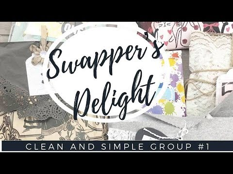 {REVEAL} SWAPPER'S DELIGHT HAPPY MAIL SWAP | CLEAN AND SIMPLE GROUP #1