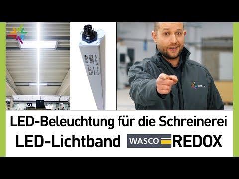 LED Beleuchtung für Schreinerei: LED Lichtband WASCO REDOX