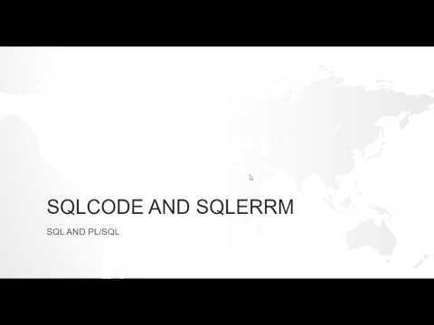 WHAT IS SQLCODE AND SQLERRM IN ORACLE PL/SQL