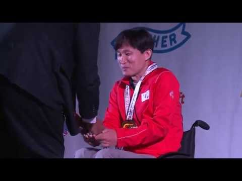 Medals Ceremony | R4 mixed 10m air rifle standing SH2 | 2014 IPC Shooting World Championships Suhl