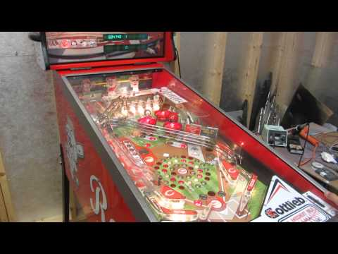 Custom Cincinnati Reds Pinball Machine - sound check