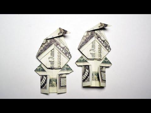 Easy Money Origami SANTA (Elf) Dollar Tutorial DIY