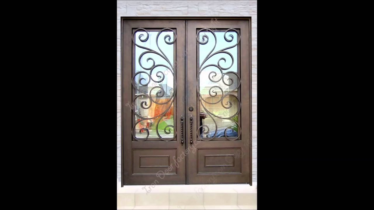 Custom wrought iron front doors los angeles youtube rubansaba