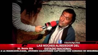 Las noches alrededor del Estadio Nacional: indigencia y drogas lejos del fútbol