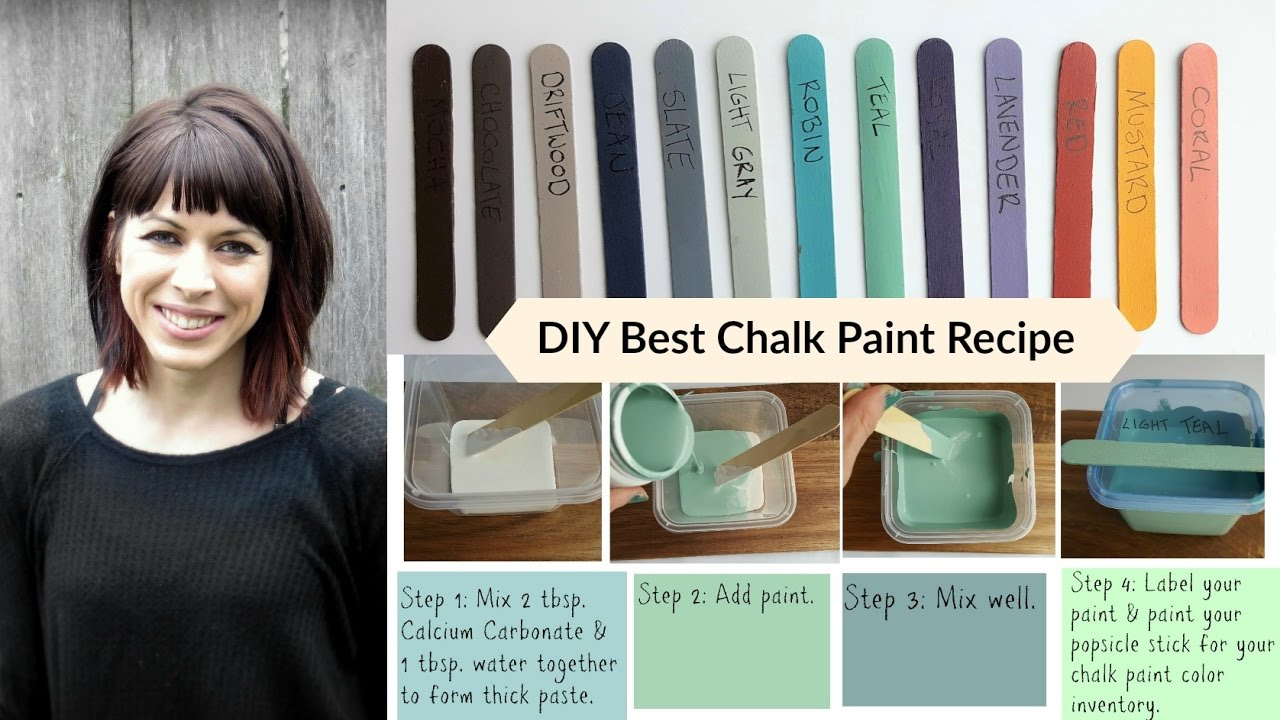 Diy Best Chalk Paint Recipe Tutorial Budget Saving Homemade Calcium