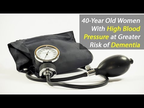 Women with High Blood Pressure Has Increased Risk of Dementia