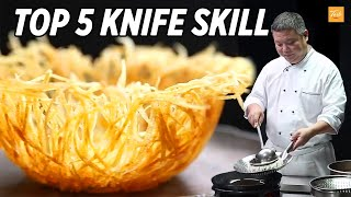 Satisfying video - Top 5 Knife Skills by Masterchef