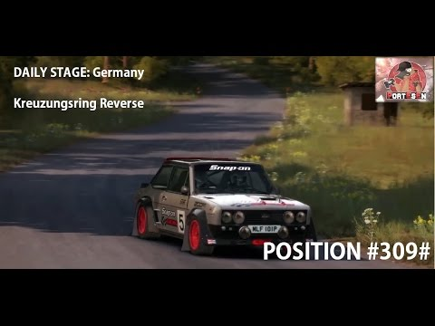 [Dirt Rally] Daily Stage: GERMANY: Kreuzungsring Reverse with FIAT 131 Abarth