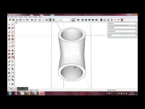 Sketchup PVC Y-pipe Fitting