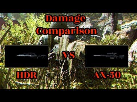AX-50 vs HDR