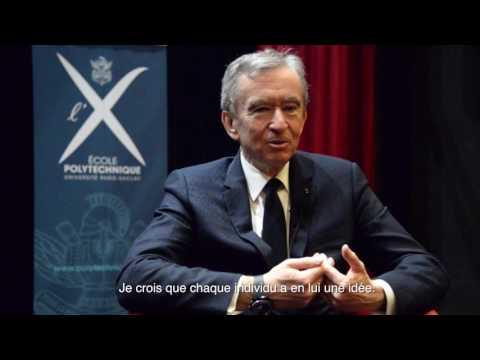 Trois questions à Bernard Arnault en conférence à l'École polytechnique