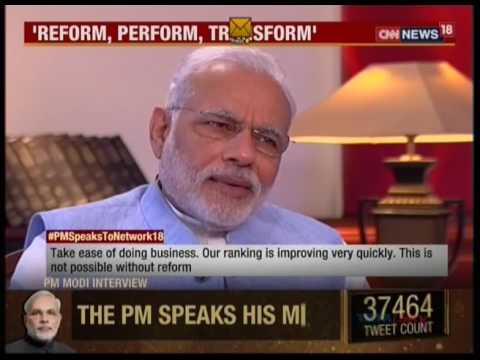 Watch an exclusive interview of Prime Minister Shri Narendra Modi on Network 18: 02.09.2016