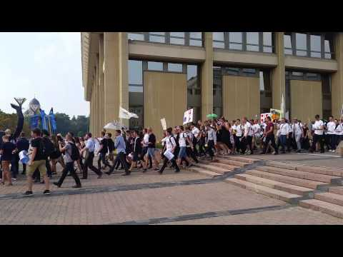 Vilnius University student procession 2015