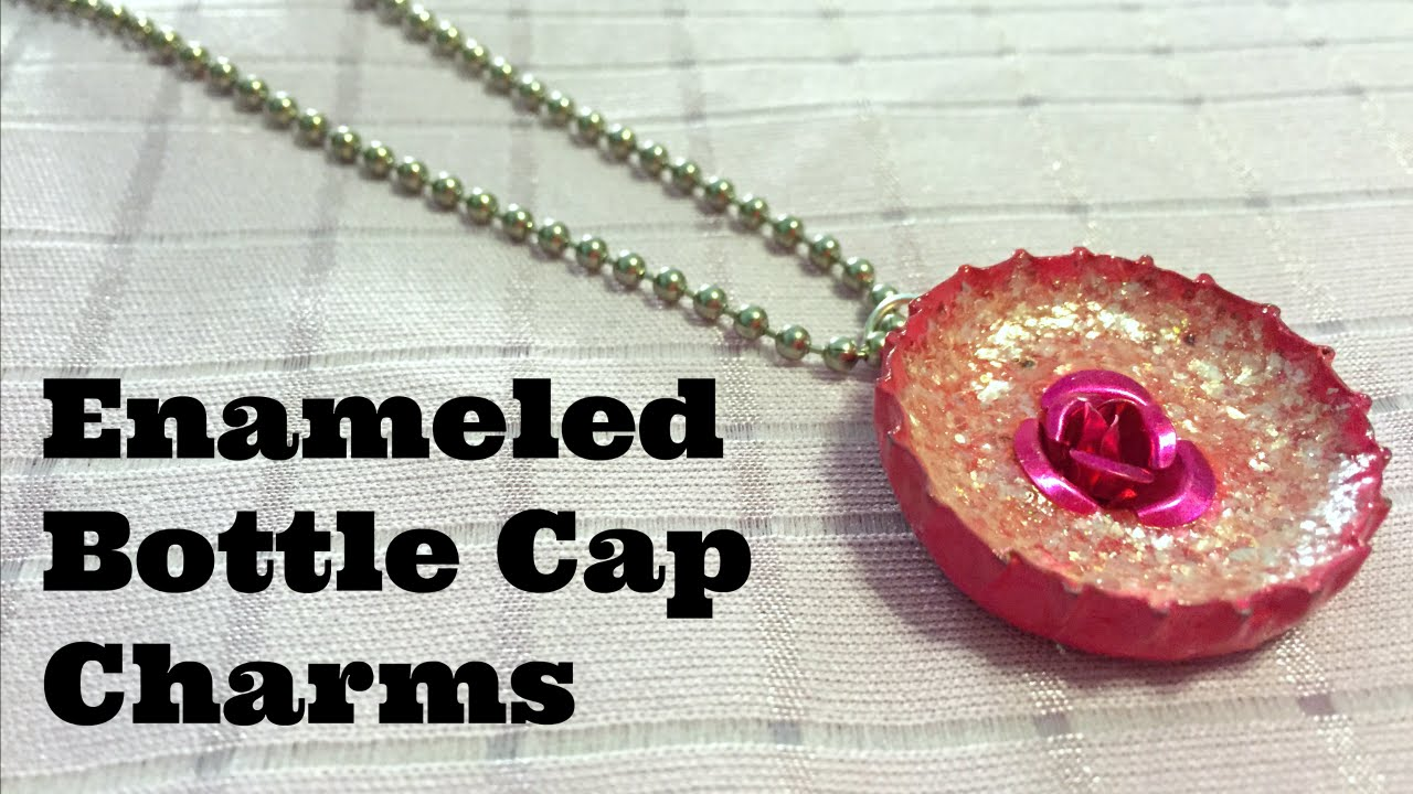 Dollar store crafts enameled bottle cap charms recycled for What can i make with bottle caps