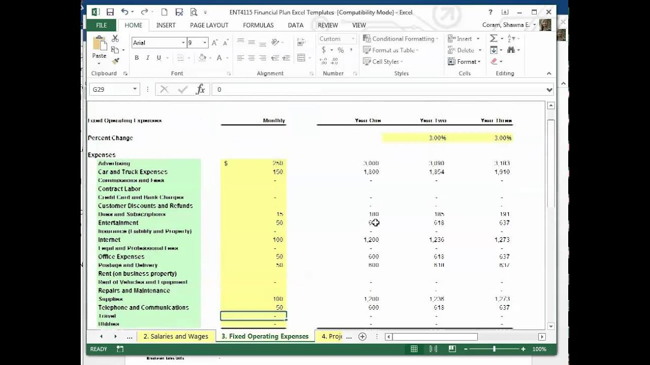 Financial Plan Template Updated - Youtube