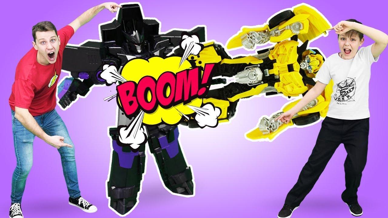 Игры гонки Трансформеров - Бамблби против Мегатрона!