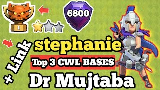 TOP 3 STEPHANIE ♥️ DR MUJTABA Th13 War BASE Anti 1 Star 2020 | TH13 CWL WAR BASE JUNE 2020 W/LINK |