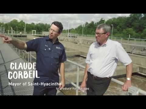 Saint-Hyacinthe produces natural gas using organic matter