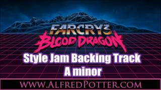 Blood Dragon Style 80s Retro Synth A Minor Jam Backing Track
