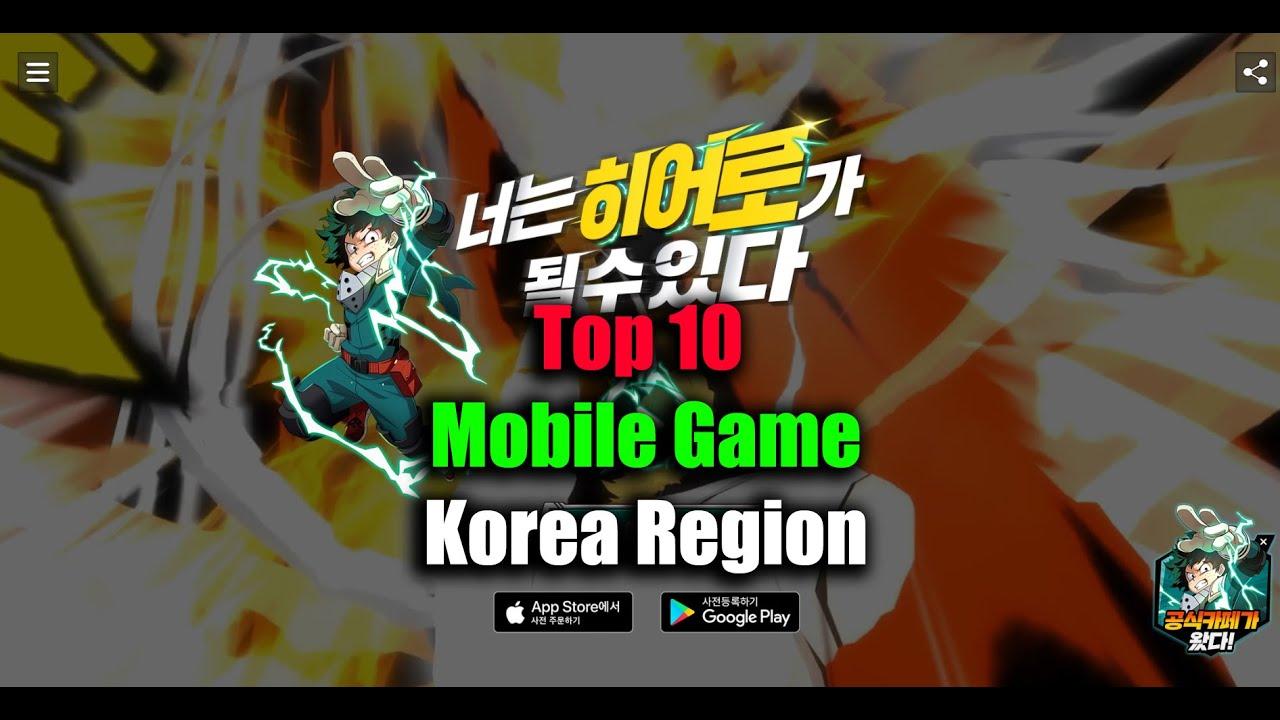 Top 10 Mobile Game in Korea Region September 1st