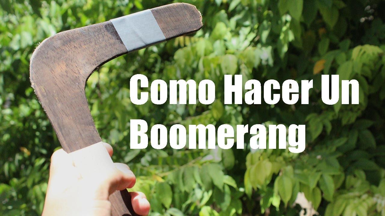 Como hacer un boomerang casero youtube - Como construir un zapatero ...