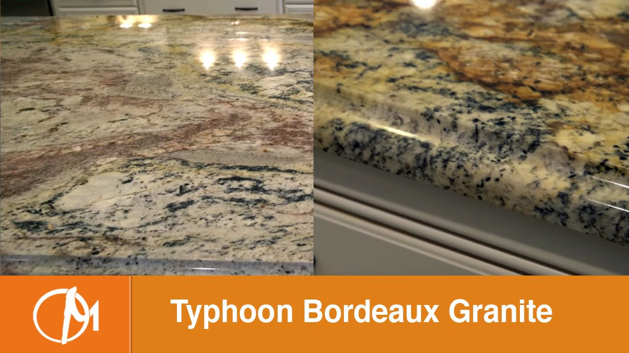cherry kitchen cabinets how to remodel your typhoon bordeaux granite countertops - youtube