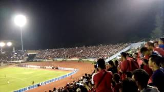 Koreo pasoepati dukung timnas stadion manahan solo