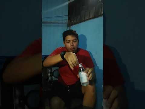 Guy drink 2 bottles of 350ml Gin