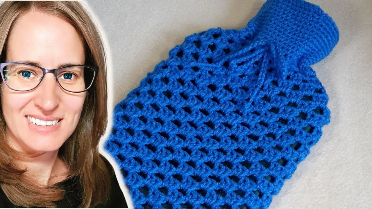 Crochet Book Cover Tutorial : Crochet hot water botter cover tutorial youtube