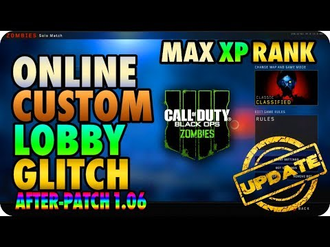 BO4 Zombie Glitches: Online Custom Mutations Lobby XP Glitch After-Patch 1.06 - Black Ops 4 Glitches