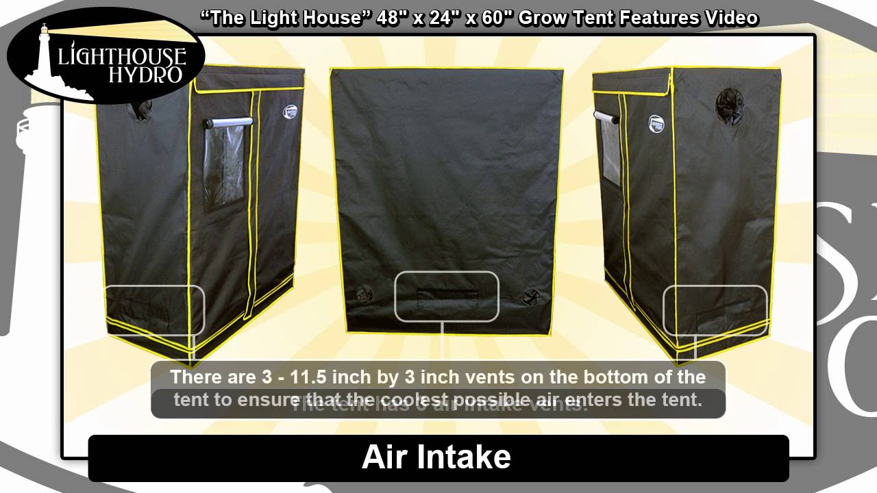 2014 Lighthouse Hydro Grow Tent - 4u0027 x 2u0027 x 5u0027 Features Video  sc 1 st  YouTube : hydro tents - memphite.com