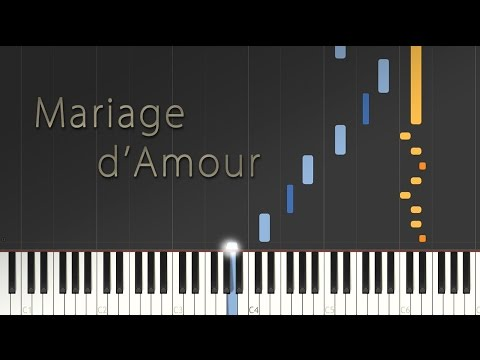Mariage d'Amour - Paul de Senneville (George Davidson) \\ Synthesia Piano Tutorial