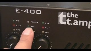 T. Amp E400 Endstufe Unboxing und Soundcheck an Elac FS 53.2 (Volume Vmax)