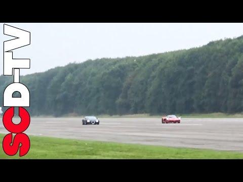 Veyron Vs LaFerrari - Vmax200 Evomax | SCD Drag Races