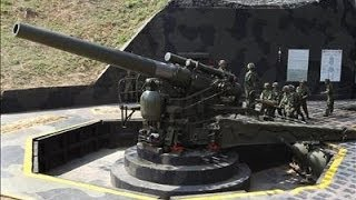 Repeat youtube video Kinmen Military 240mm Howitzer Cannon Firing