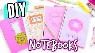 DIY Notebooks For Back To School! Easy and Cheap! DIY Back To School Supplies