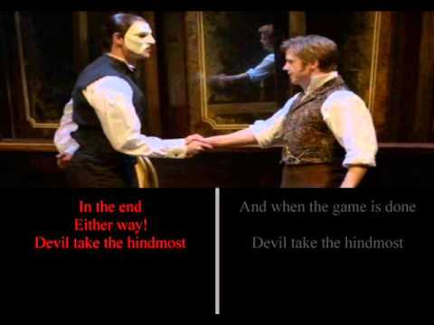 Devil Take the Hindmost - Phantom Only - SING AS RAOUL!