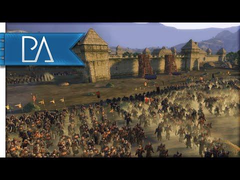 HUGE SIEGE BATTLE - Third Age Total War Gameplay