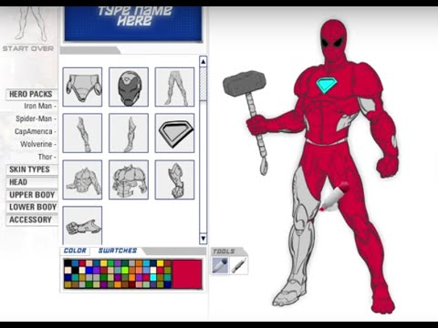 Marvel Superheroes - A Look at Character Creator - Create Your Own Super  hero