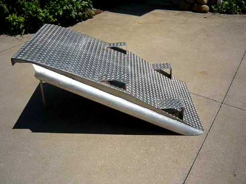 Aluminum Motorcycle Ramp one-off Custom Motorcycle loading ramp illustration - YouTube