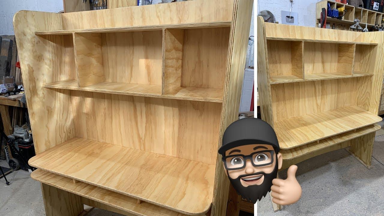 🔥 Cómo hacer un mueble HOME OFFICE paso a paso - 🗜 Carpintería fácil  📐