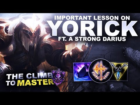 IMPORTANT LESSON ON YORICK! Ft. A Strong Darius | League of Legends thumbnail