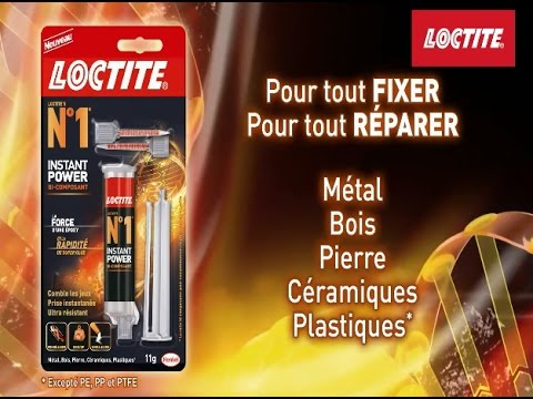 Colle Extra-Forte Loctite Power Bi-Composant - Youtube