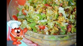 Рецепт праздничного салата с сыром, ветчиной, огурцом, перцем