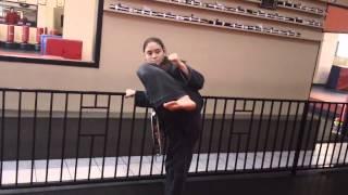 4 Counts Side Kick by 3rd degree Black Belt Sensei Dru Morin