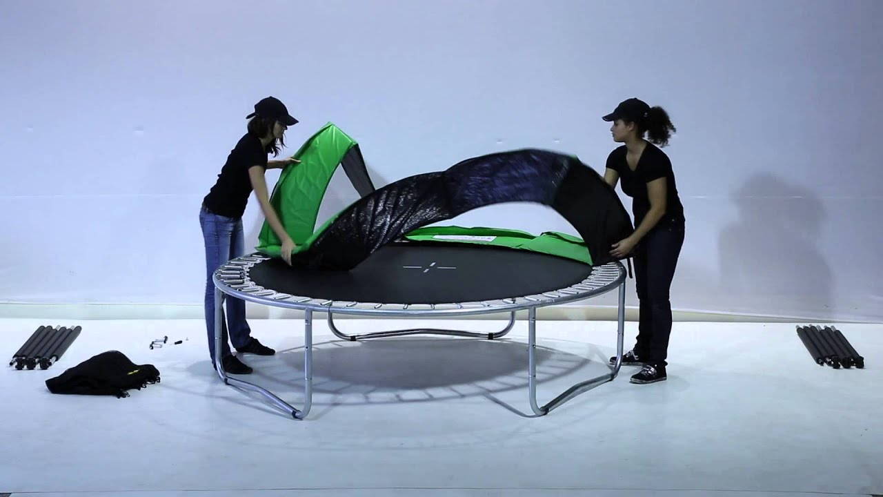montage districom trampoline eco youtube. Black Bedroom Furniture Sets. Home Design Ideas
