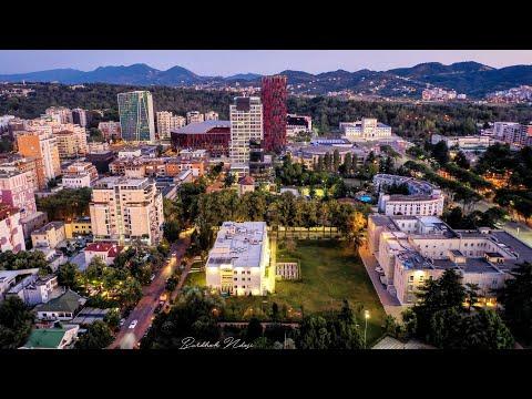 Tirana FLYOVER [4K]
