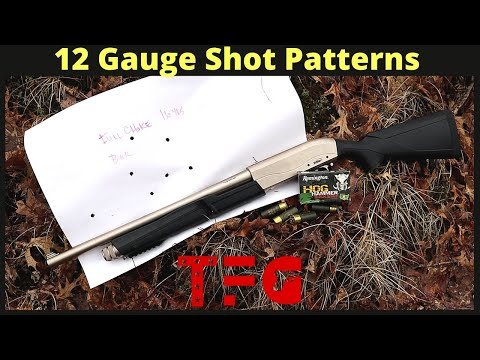 12-gauge shot patterns
